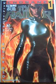 Tomb Raider #25 Michael Turner Platinum Foil Variant COA Ltd 500 Top Cow comic book